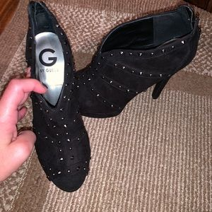 BRAND NEW! Guess heel booties w/ silver studs